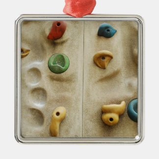 Colorful Climbing Wall Rocks Metal Ornament