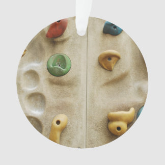 Colorful Climbing Wall Rocks Ornament
