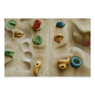 Colorful Climbing Wall Rocks Poster