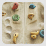 Colorful Climbing Wall Rocks Square Stickers