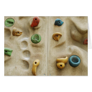 Colorful Climbing Wall Rocks Stationery Note Card