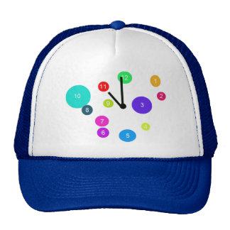 Colorful Clock Design Trucker Hat