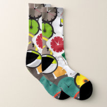 Colorful Clock Patterns Socks