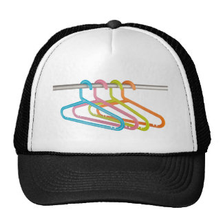 Colorful clothes hangers mesh hat