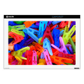 Colorful Clothes Pins Design Laptop Skin