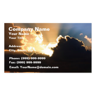 Colorful Clouds at Sunset Business Card Templates
