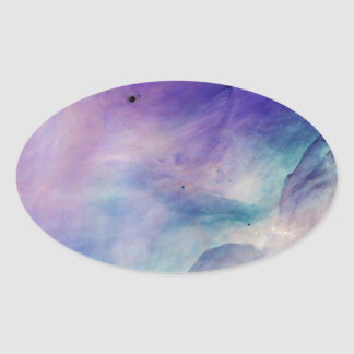 Colorful Clouds Oval Sticker