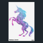 """Colorful Clouds Unicorn Wall Sticker<br><div class=""""desc"""">2 different colored &quot;Fades&quot; with a couple transparent heart images added as a &quot;brand&quot;. Changing the background color will change the &quot;look&quot;. Add text and images to your heart&#39;s desire. And don&#39;t forget that the shape of the decal can be changed to all sorts of different things, not just the...</div>"""