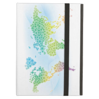 Colorful Clover World Map iPad Air Case