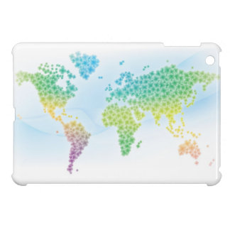 Colorful Clover World Map iPad Mini Cover