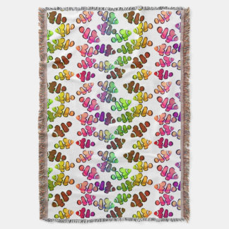 Colorful Clown Anemone Fish Throw