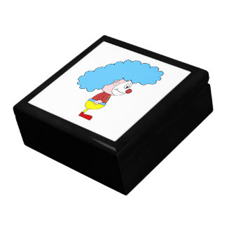 Colorful Clown Cartoon Blue Hair Jewelry Boxes