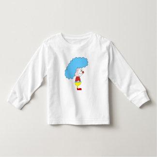 Colorful Clown Cartoon. Blue Hair. Toddler T-shirt