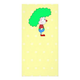 Colorful Clown Cartoon. Card