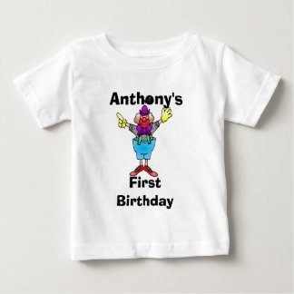 Colorful Clown Personalized Baby Tee