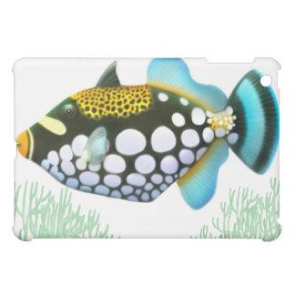 Colorful Clown Triggerfish iPad Case