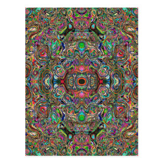 Colorful Clusters Abstract Postcard