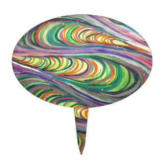 Colorful Coalesce Cake Topper