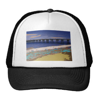 Colorful Coastal Configuration Trucker Hat