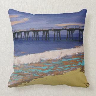 Colorful Coastal Configuration Throw Pillow