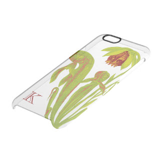 Colorful Cobra Pitcher Plant Monogram Uncommon Clearly™ Deflector iPhone 6 Case