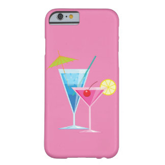 Colorful Cocktails on Pink iPhone 6/6s Case
