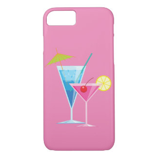 Colorful Cocktails on Pink iPhone 7 Case