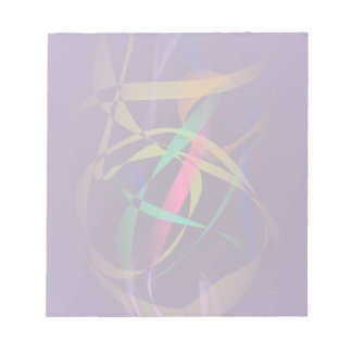 Colorful Cocoon in a Dark Purple Space Note Pad