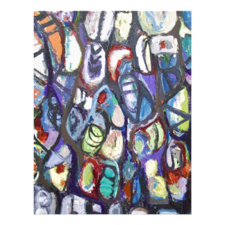 Colorful Cocoons (abstract expressionism) Letterhead