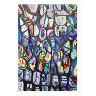 Colorful Cocoons (abstract expressionism) Postcard