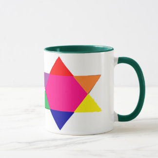 colorful coffe cupe with a star mug