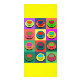 COLORFUL COFFEE COLLAGE POP ART MORNING DRINKS ART RACK CARD