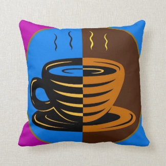 Colorful Coffee Mug Pillow