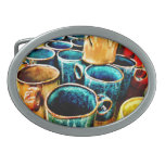 Colorful Coffee Mugs Gifts for Coffee Lovers Oval Belt Buckles