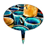 Colorful Coffee Mugs Gifts for Coffee Lovers Cake Toppers