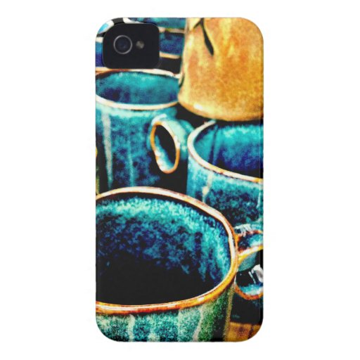 Colorful Coffee Mugs Gifts for Coffee Lovers iPhone 4 Case-Mate Case