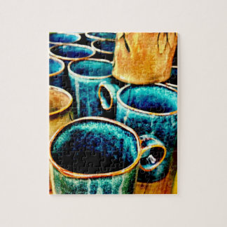 Colorful Coffee Mugs Gifts for Coffee Lovers Jigsaw Puzzle