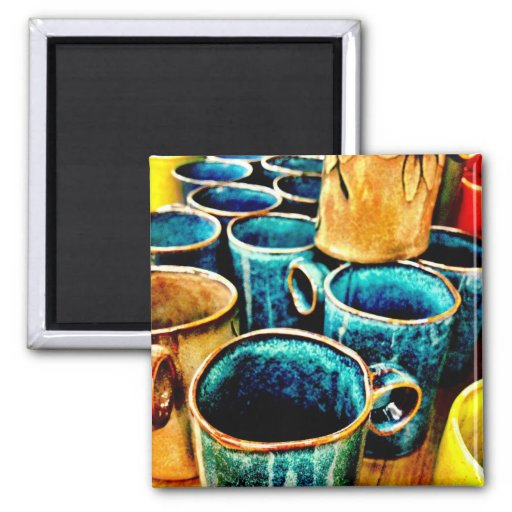 Colorful Coffee Mugs Gifts for Coffee Lovers Refrigerator Magnets