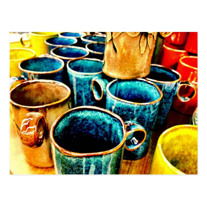 Colorful Coffee Mugs Gifts for Coffee Lovers Postcard
