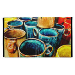 Colorful Coffee Mugs Gifts for Coffee Lovers Teal iPad Cases