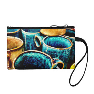 Colorful Coffee Mugs Gifts for Coffee Lovers Teal Change Purse