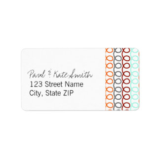Colorful Coils Personalized Address Label