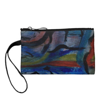 Colorful Coin and Key Purse by ValAries