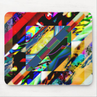 Colorful Collage Cube Mouse Pad