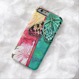Colorful Collage Flowers And Butterfly Barely There iPhone 6 Case