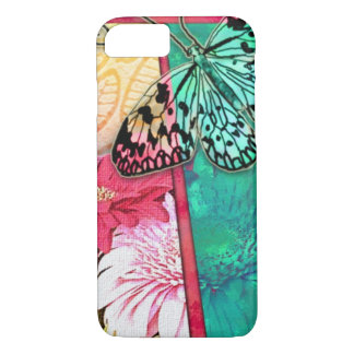 Colorful Collage Flowers And Butterfly iPhone 8/7 Case