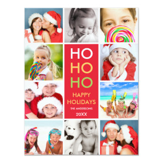 COLORFUL COLLAGE | HOLIDAY PHOTO CARD