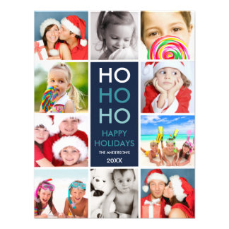 COLORFUL COLLAGE HOLIDAY PHOTO CARD INVITES