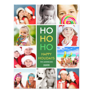 COLORFUL COLLAGE HOLIDAY PHOTO CARD CUSTOM INVITE