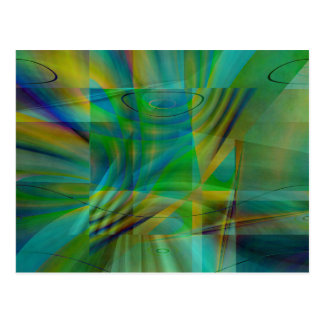 Colorful Collage No. 4  by Tutti Postcard